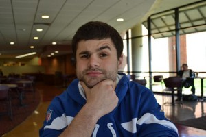 "Chris Brody, psychology junior. ""It was absolutely crazy! Like two or three good teams got knocked out in the first round. Louisville and UK game was the best I've ever seen in my life. They both played their hearts out. Just back and forth. But man, UK played like crap against UConn, it's those free-throws!"""