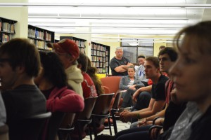 A record number of 135 students attended Civil Liberties Union Spring Forum about marijuana on the third floor of the IUS Library on April 11. The topics that were discussed included the history of marijuana in the United States and how marijuana laws are not enforced equally across races.