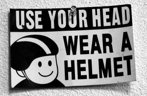 Use your head - wear a helmet