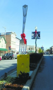 Eastward view of Market Street in downtown New Albany.  The area has seen substantial growth in the last six years.