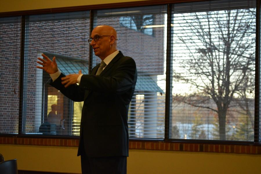 """""""There is great potential for doing great things in this university,"""" IUS chancellor candidate Aldemaro Romero said."""
