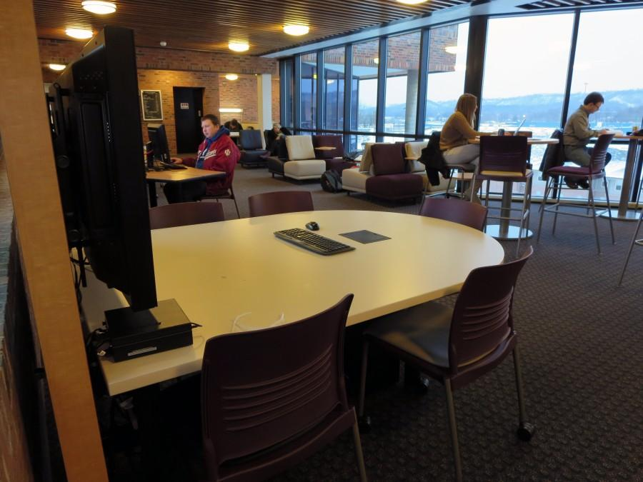 "Hillside Hall's study lounge was recently renovated by Information technology. ""Not a lot of students know about the area, but the students who do seem like they really enjoy it,"" Lee Staton, manager of communications and special projects, said."