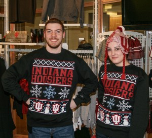 Julie Faulds, bookstore manager, said the idea for a school themed ugly sweater originated at Indiana State University and spread quickly throughout the state of Indiana.