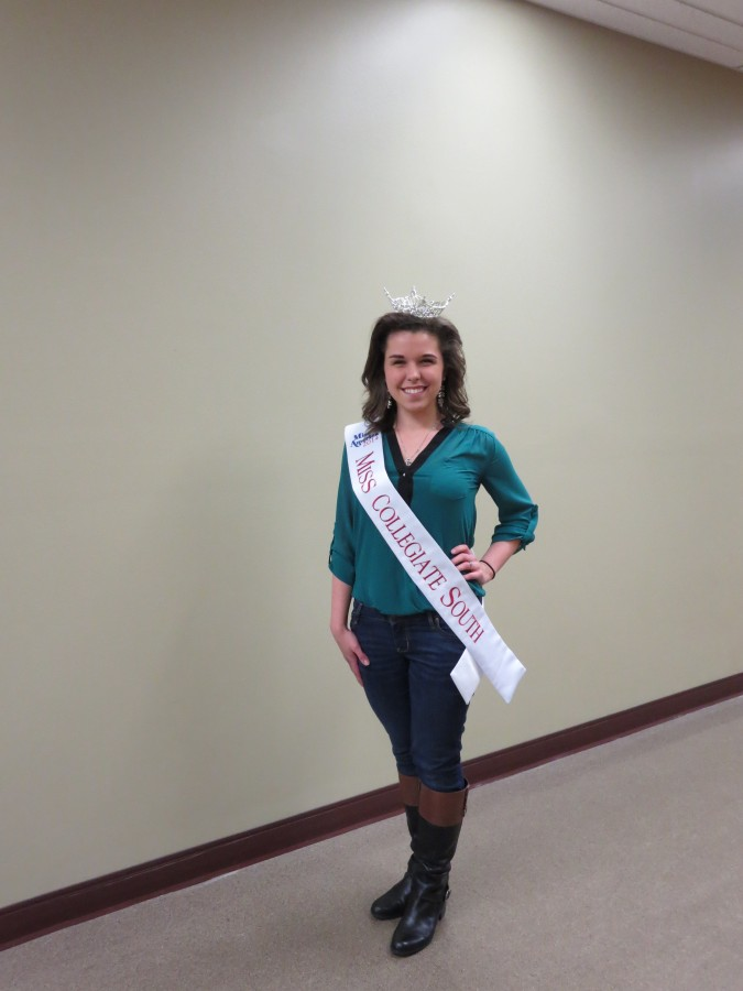 "Emily Kunkel, marketing freshman, is the new Miss Collegiate South. She will be competing for the Miss Indiana title June 15-21, in Zionsville, Ind. As part of her duties, Kunkel has joined with Suitcases for Sweethearts to help bring much needed supplies to foster children. ""I grew up with volunteerism in my life, since I was little,"" Kunkel said. ""My parents have always encouraged it. They told me I had to give back to my community."""