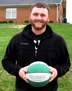 Jacob Franklin, secondary education freshman, volunteers at Enter His Courts, a church basketball league for younger kids.