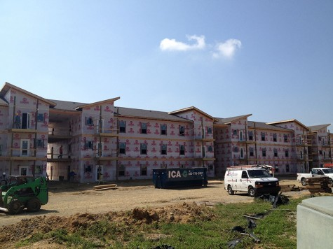 University Commons, a new apartment complex owned by APi Construction Management and located on Hausfeldt Ln. in New Albany, is slated be open and ready by December 2014-January 2015.
