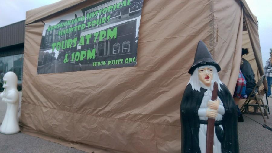 Kentuckiana Historical Haunted Tours meet at 723 Spring Street in Downtown Jeffersonville, beside the Vintage Fire Museum. Tarot card readings also take place here.