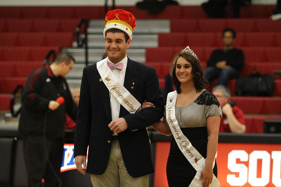 Senior criminal justice major Josh Atkins and senior journalism major Shelby Orange had the honor of becoming the first Homecoming King and Queen in IU Southeast's history.