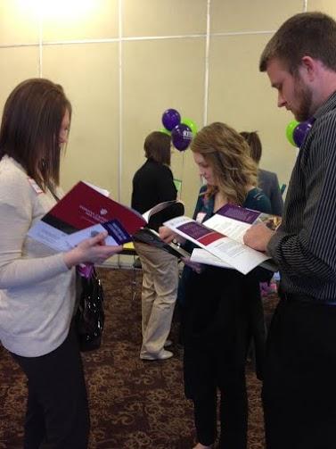 Students network at Education Job Fair