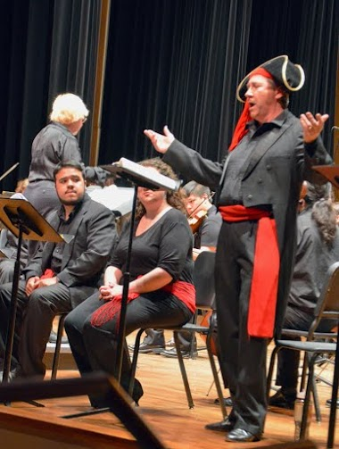 Rick Rebilas performing as The Pirate King in IU Southeast's production of The Pirates of Penzance.