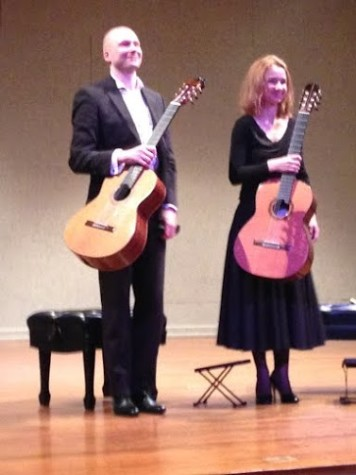The Kupinski Guitar Duo  Ewa Jablczynska and Dariusz Kupinski  is a famous Polish  guitar duo that performs a variety of classical music pieces. The guitar duo performed on   Monday, March 30 in the Millicent and Norman Stiefler Recital Hall in the Ogle Center from 7:30 to 9 p.m.