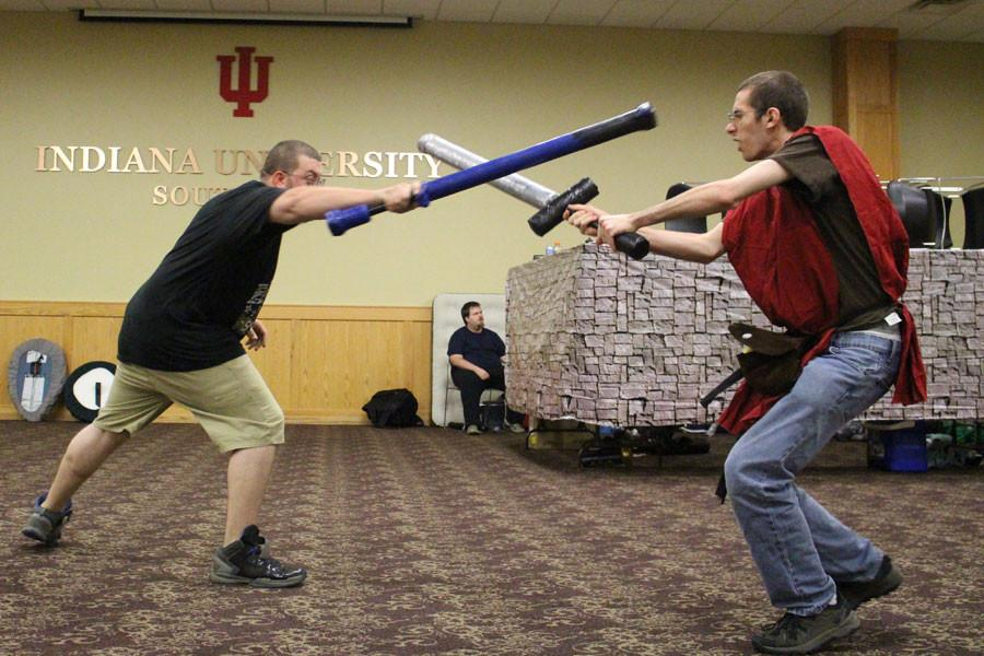 Jacob Lutz successfully parries another attack from Eric Razor proving that mages are just as capable with swords.