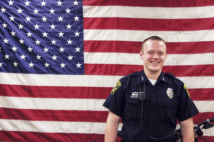 Deven Estes, criminology and criminal justice senior, became a part-time officer at IUS Police in August after graduating from the IU Police Academy at the top of the class.