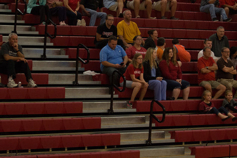 Some of the crowd at the IUS women's volleyball game against Point Park University on Sept. 18.