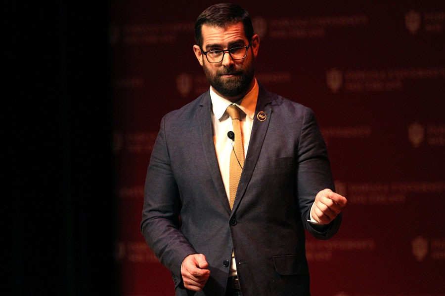 "Brian Sims was the keynote speaker in the Common Experience event ""Decision Making and Diversity: Getting Things Done and Bringing People With You."