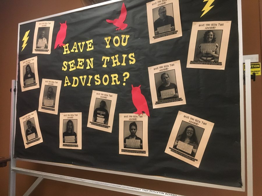 Advisors chose a Harry Potter theme to draw students into their offices.