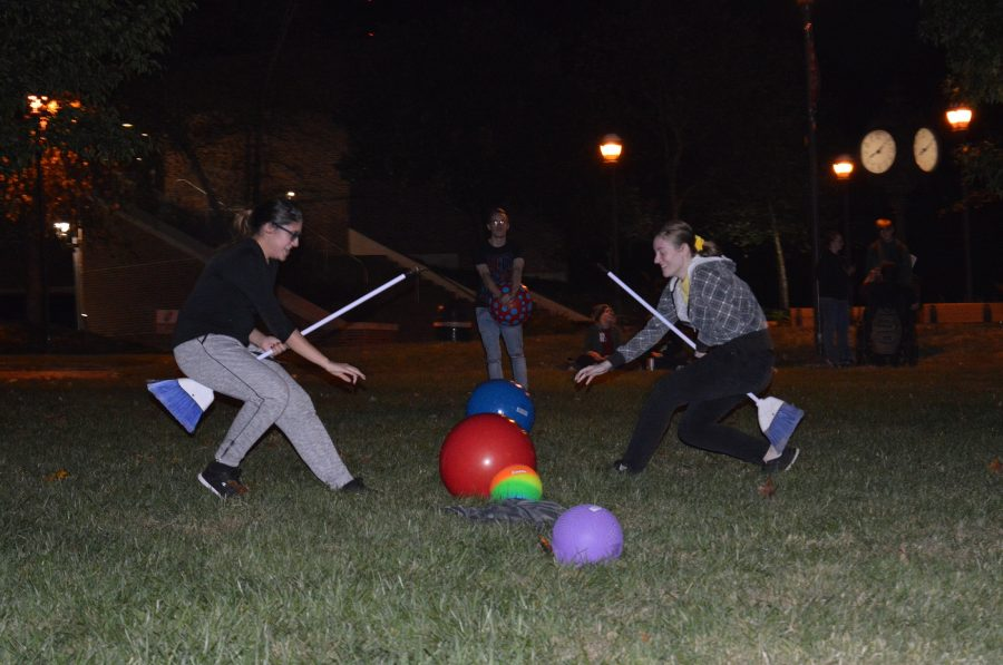 In this round, Ben Garrett, secondary education junior and treasurer of the Castle Club, had girls start off the round.