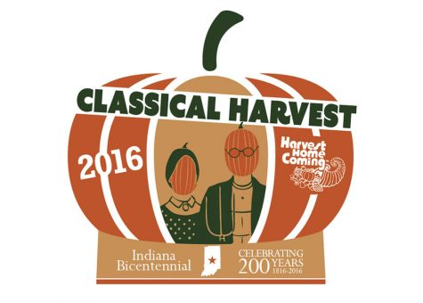 "The Harvest Homecoming logo for the year is ""Classical Harvest."""