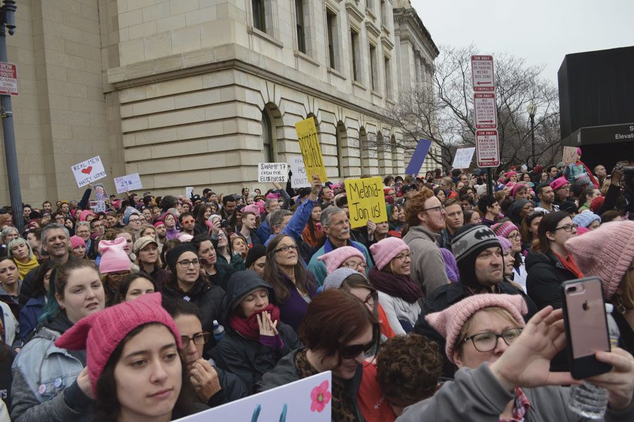 As+many+as+500%2C000+women+attended+the+Women%27s+March+in+Washington+on+Saturday%2C+Jan.+21%2C+to+protest+the+new+Trump+administration.+