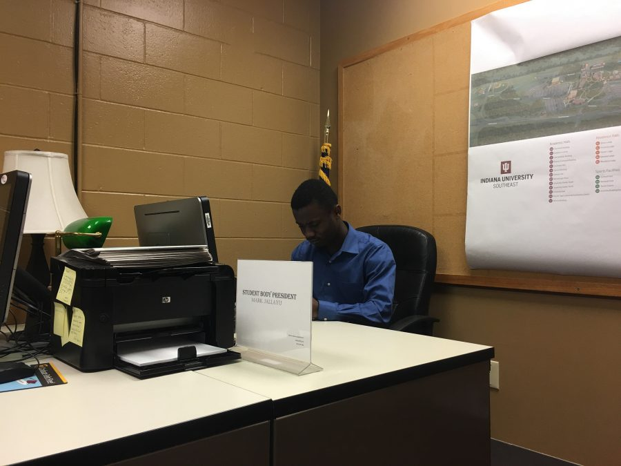 """Mark Jallayu, political science junior, said that he thinks many Liberians were displaced after the civil war and moved to the United States.  """"I came to America because my country wasn't providing me with a good education,"""" Jallayu said."""