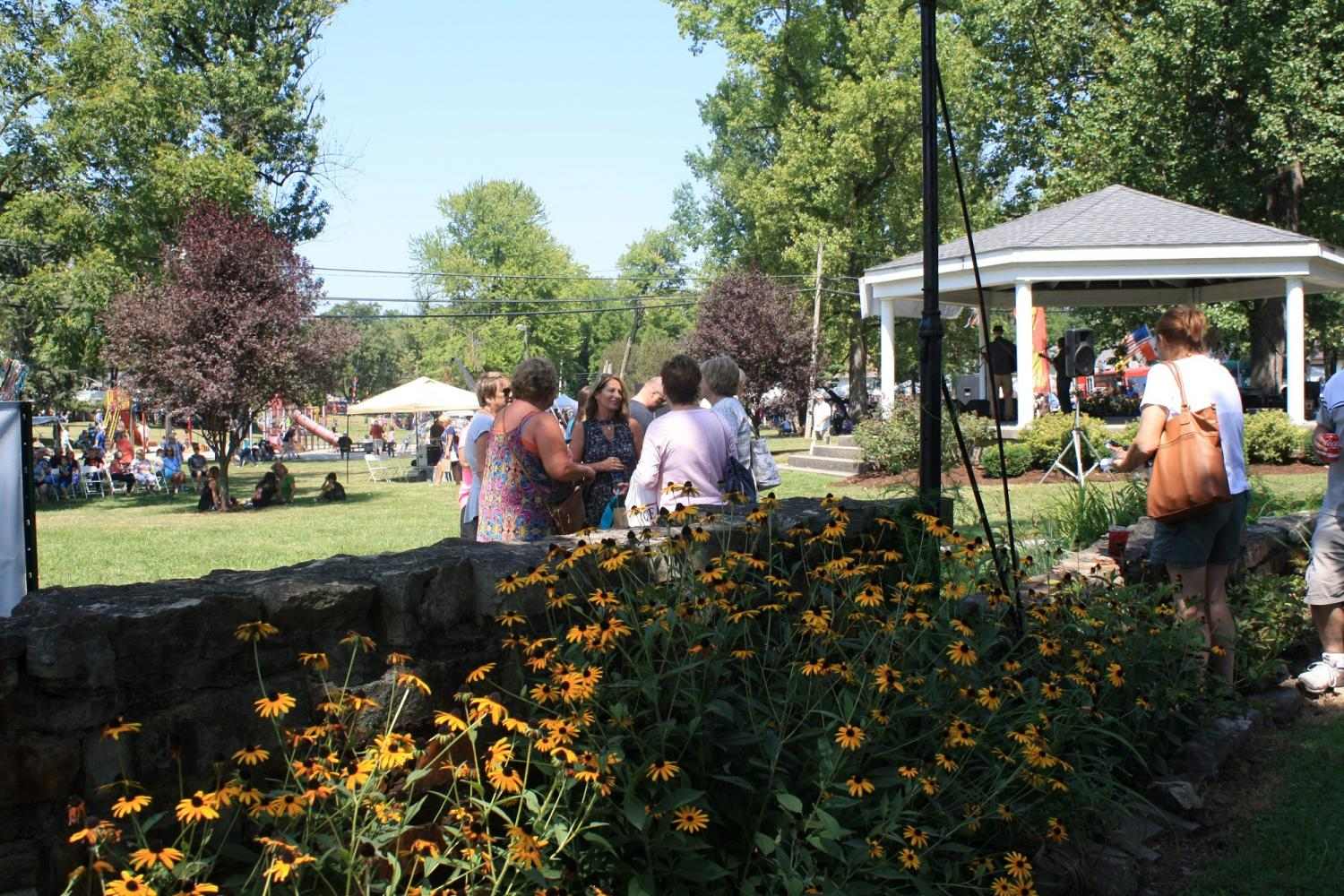 Friends and families gather, Aug 26th, to celebrate the kick off of Art In Speed Park's 27th anniversary.
