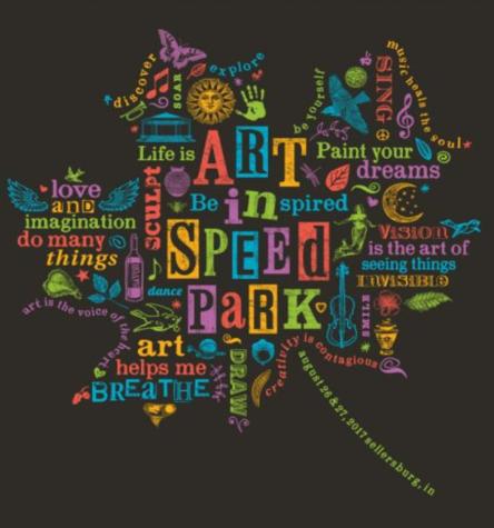 2017 Art In Speed Park tee shirt design created by Doreen DeHart.