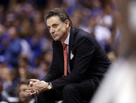 Rick Pitino, former University of Louisville head men's basketball coach, was fired prior to the 2017-2018 season amid another alleged recruiting scandal. Photo courtesy of Charles Bertram, used under Tribune News Service license.