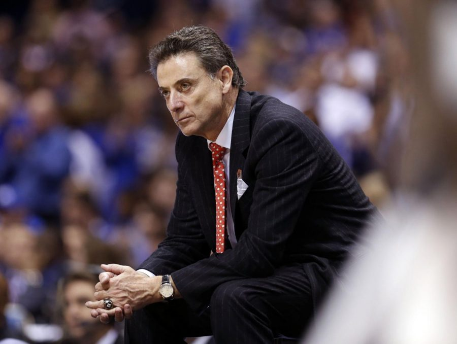 Rick+Pitino%2C+former+University+of+Louisville+head+men%27s+basketball+coach%2C+was+fired+prior+to+the+2017-2018+season+amid+another+alleged+recruiting+scandal.%0APhoto+courtesy+of+Charles+Bertram%2C+used+under+Tribune+News+Service+license.