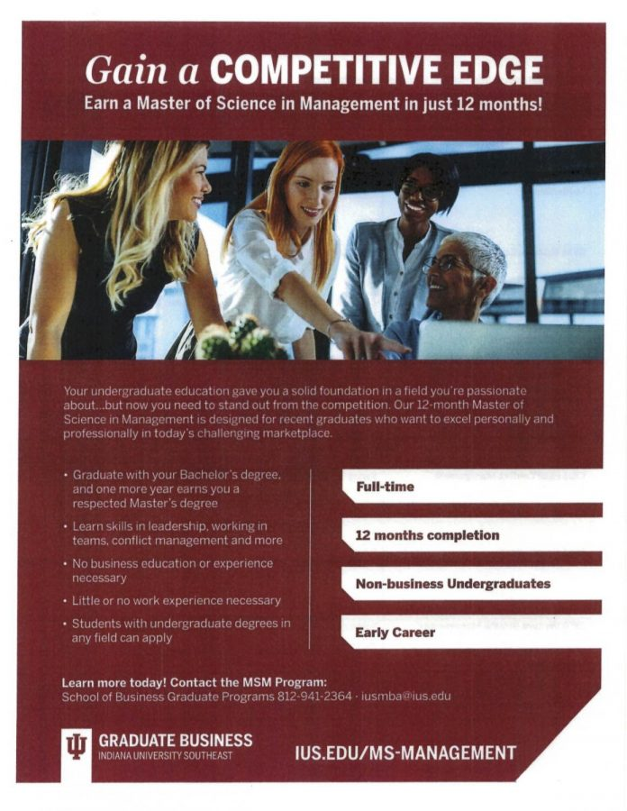 New Graduate Program, Master of Science in Management, for IU Southeast