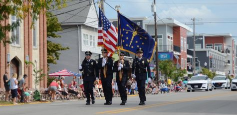 The parade was escorted by the New Albany Police Department.