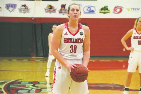 Now a senior, Baylee Krueger has learned the delicate balancing act of playing on two college sports teams, all while keeping up with her full-time course load.