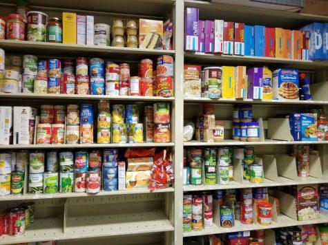 Inside the IUS food pantry.