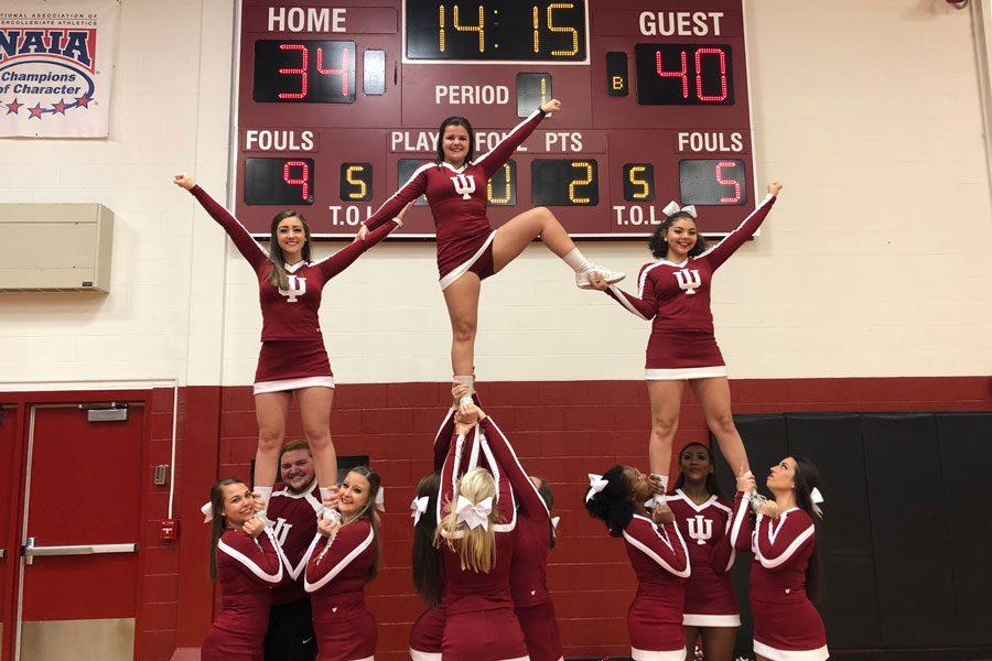 IU+Southeast+cheerleaders+balance+school+and+spirit