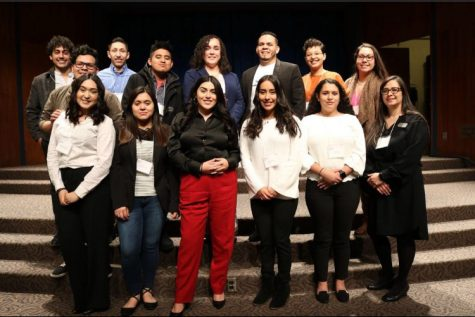 Twelve students as well as IUS professors serve as ambassadors for IU Southeast in their first attendance at the Indiana Latino Leadership Conference. Photo by Meleena Richardson.