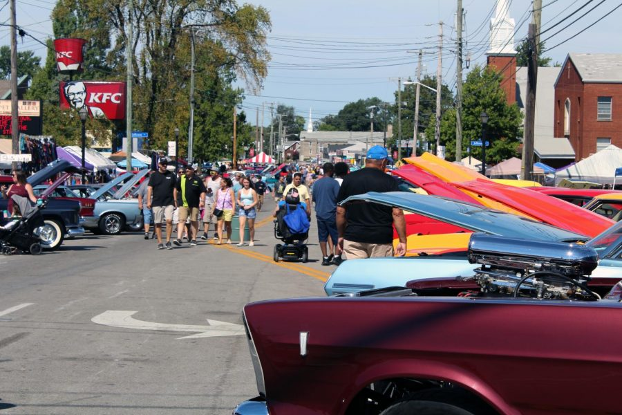 Among the events happening on Sunday was a car show on Taylorsville Road, showcasing local, classic and custom cars.
