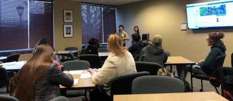 President Sidney Farmer speaking at the first meeting of the GREENadiers on Wednesday, Jan. 22.