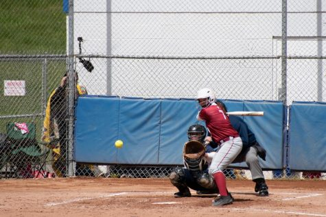 Freshman catcher Erin Templeman squares up against a fastball shooting down the middle of the strike zone against West Virginia Tech on May 15. Templeman went 3-for-10 with five RBI in the RSC Tournament, three of which came on a mammoth game-tying three-run home run against Rio Grande in the RSC title game.