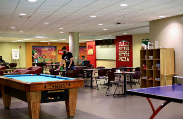 Hanging out with friends on campus is more fun with added board games, table tennis and pool.